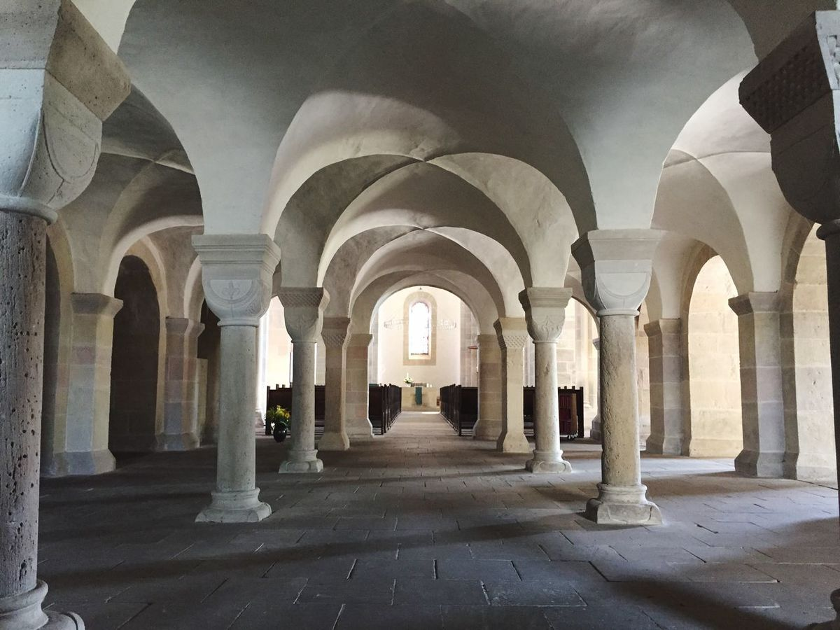 Kloster Lippoldsberg Arch Architecture In A Row Architectural Column Column Indoors  Colonnade Pillar SUPPORT Repetition Arcade Ceiling Empty Corridor The Way Forward Arched Day Diminishing Perspective Long