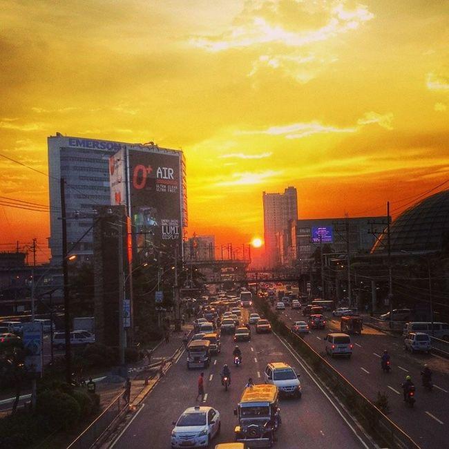 Sunset in EDSA Sunset Quezon City Philippines