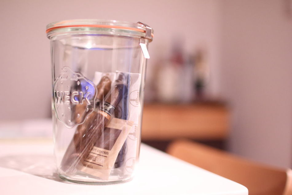Cigar Focus On Foreground Glass Glass - Material Humidor  Indoors  Jar Living No People Table