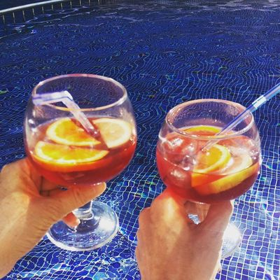 It's the perfect time for a Sangria. 🍷 Lasttweet Vacationtweet Lifeisgood Portdesóller Mallorca Baleares Spain