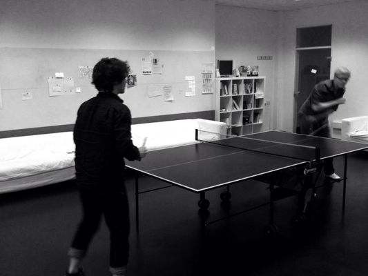 ping pong at Ableton HQ by Mike Verdone