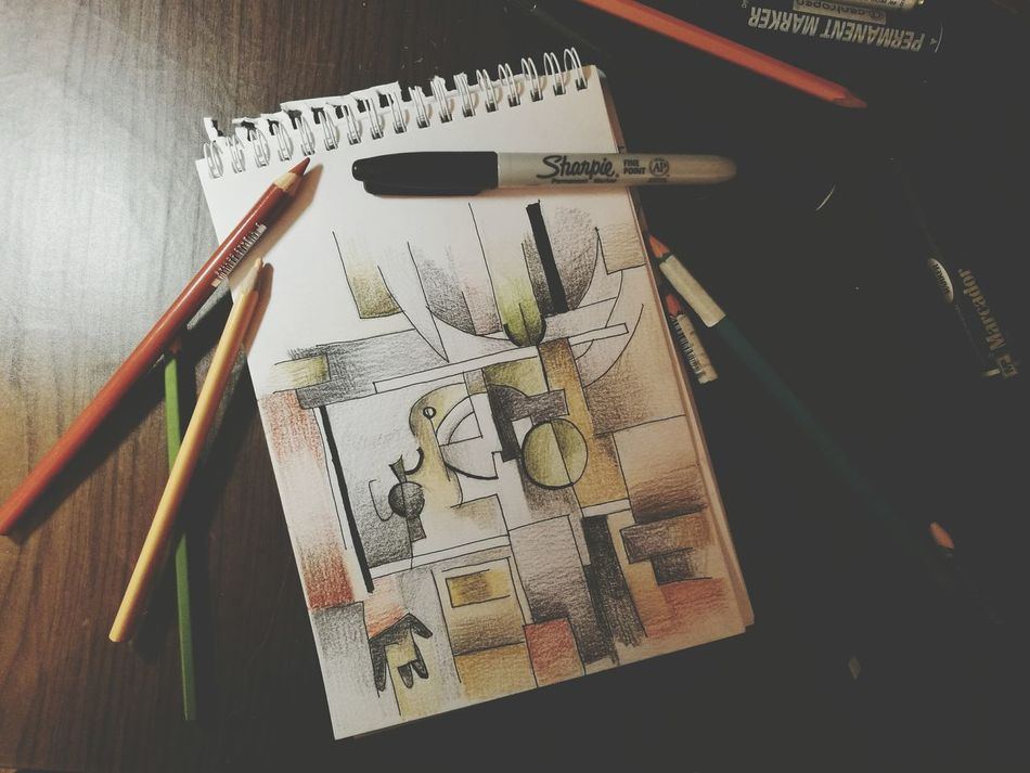 Sketch in cubism style Work Pencil Drawing Draw Ilustration Cubism Art Color Sketch Pencil