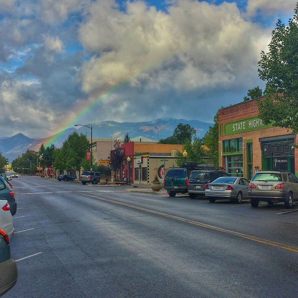Good morning! Even after the rain, a rainbow leads to a pot of gold in BV! Colorado Rainbow