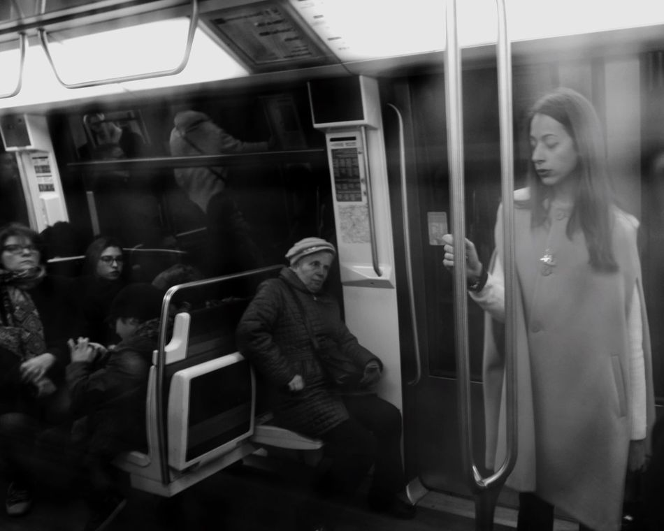 RePicture Travel Peoplephotography Dreaming Underground Blackandwhite Photography Art Living Metro Mirror Monochrome