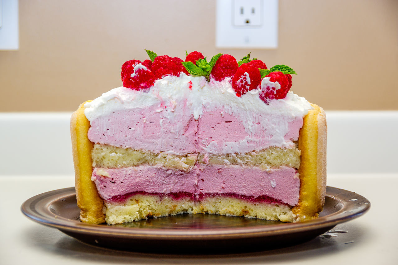 Yummy! Close-up Day Dessert Food Freshness Fruit Indoors  Indulgence No People Ready-to-eat Slice Of Cake Strawberry Sweet Food Temptation