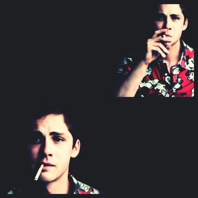 Logan Lerman at My Bed by Em.