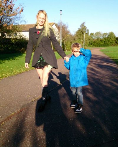 EyeEm Best Shots Shadows Beautiful Morning! My Gorgeous Son Walking Together Noedit Nofilter Well Turned Out Eye For Photography Real People Mum And Son