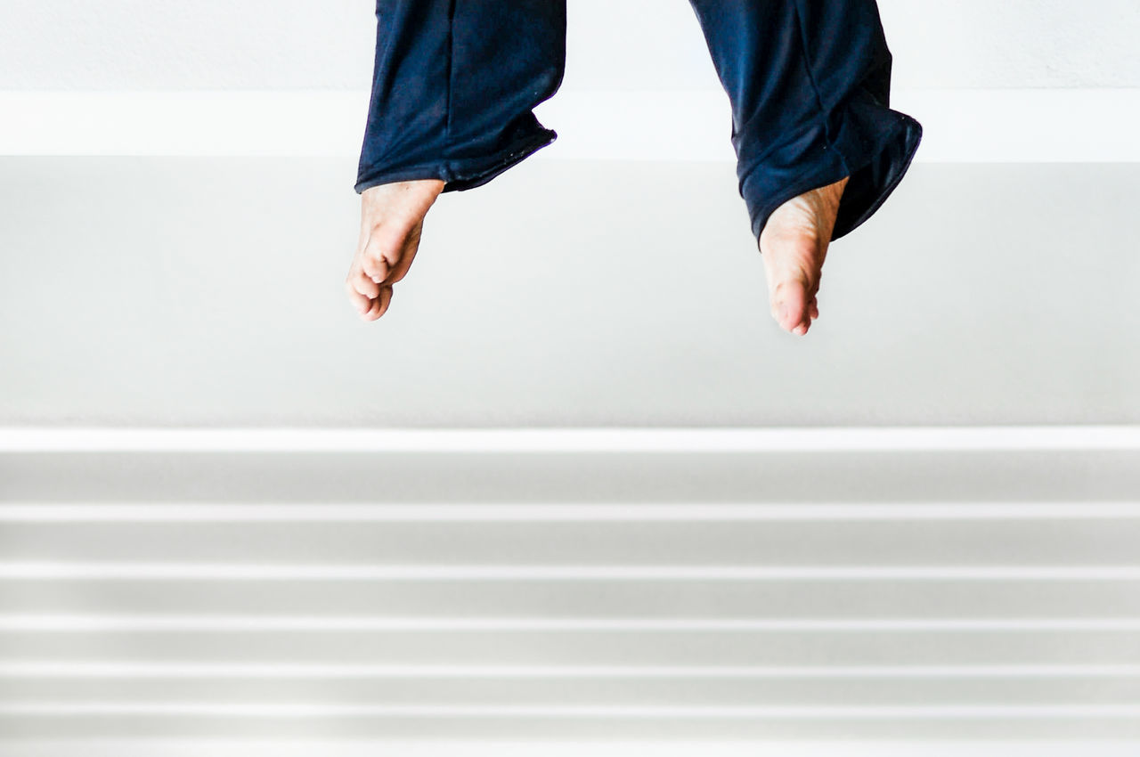 Barefoot Close-up Human Body Part Illusion Illusion Photography Low Section Minimalist Architecture One Person Suspended Fresh On Market 2017