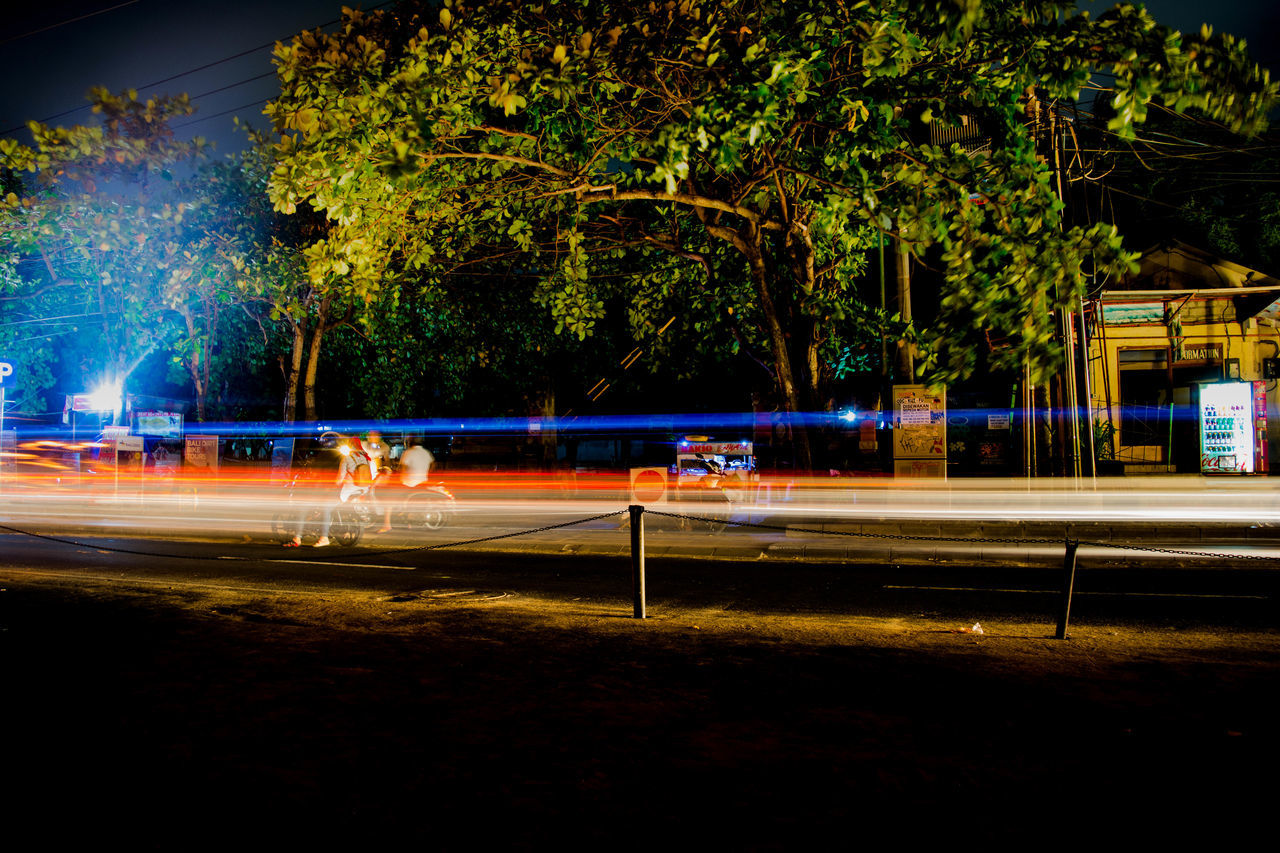 Capturing Motion Bali Nightphotography Illuminated Transportation Light Trail Outdoors Road Enjoying Life Light And Shadow Culture Spirituality Night Bali, Indonesia @longexposure Bluelight Time Passes By Nightlife Nightlifephotography Nikonphotography Nikon Nikon D5200 Tranquility Lifegoeson Motion