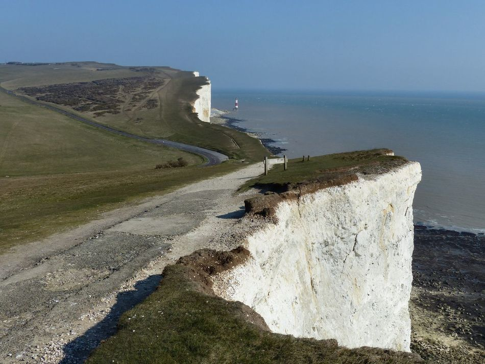 A view of the seven sisters chalk cliffs towards Beachy Head, East Sussex - March 2015. Beachy Head Chalk Cliffs Coast England England🇬🇧 English Channel Lighthouse Seven Sisters Cliffs Seven Sisters Country Park Seven Sisters White Cliffs