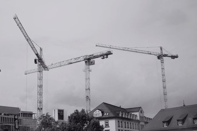 Construction Site Growing Better Crane Hanging Out Taking Photos Hello World Canon EOS 700D EF 35mm f2