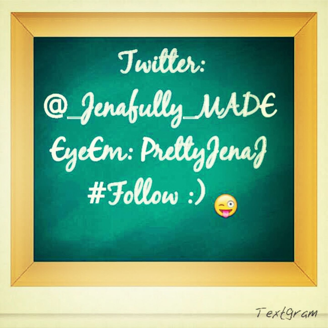 follow me on Twitter or tell me your Twitter name :)