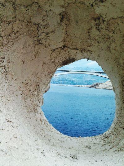 Island Pag Bridge Croatia See Sommer Nature Nature Photography
