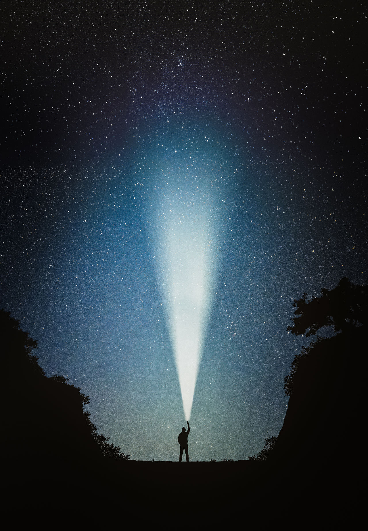 Reaching For The Stars Astronomy Beauty In Nature Contrast Dark Galaxy Illuminated Infinity Low Angle View Milky Way Milkyway Nature Nature Night Noir Outdoors Scenics Silhouette Sky Space Star - Space Star Field Stars Tranquil Scene Tranquility Tree