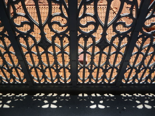 Close-up Day Fence Gate Iron Light Light And Shadow No People Outdoors Pattern Portugal Shadow Silhouette Silhouettes Wrought Iron Wrought Iron Design