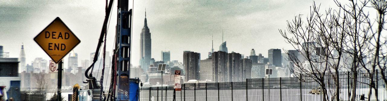 Bushwickinletpark Brooklyn New York City Empire State Building