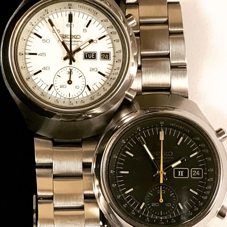 Seiko Chronograph 6139-7100 in Black and White Seiko Seikowatch Number Time Clock Clock Face Instrument Of Time Minute Hand Close-up Steel Old-fashioned Indoors  Hour Hand Dial No People Second Hand Technology Clockworks Gauge Timer Day