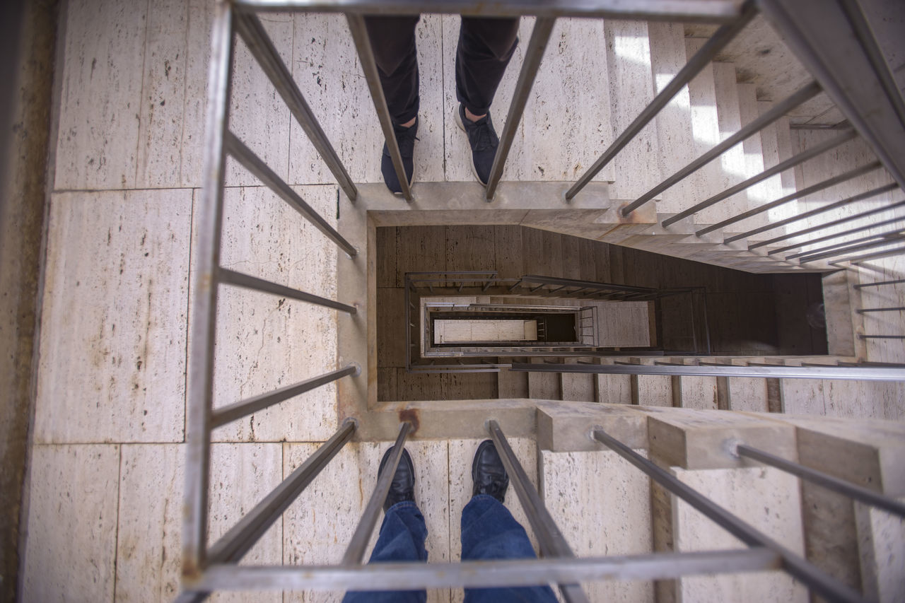 Architecture Built Structure California Day Education Human Body Part Human Leg Indoors  Low Section One Person People Real People Salk Institute  Southern California Staircase Standing Steps And Staircases Wood - Material