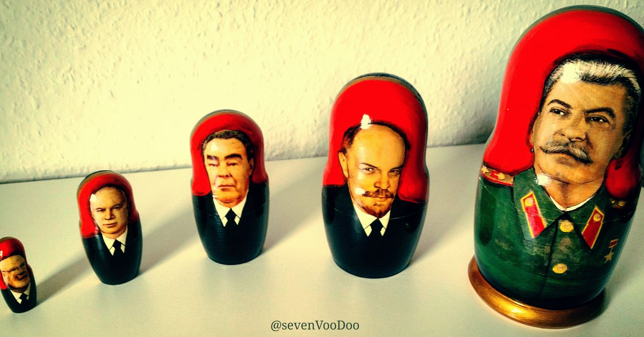 Ruler Russia Russian Ruler Communism Communist Udssr Ussr Cccr Men Stalin Lenin Putin Matryoshka Doll Toy
