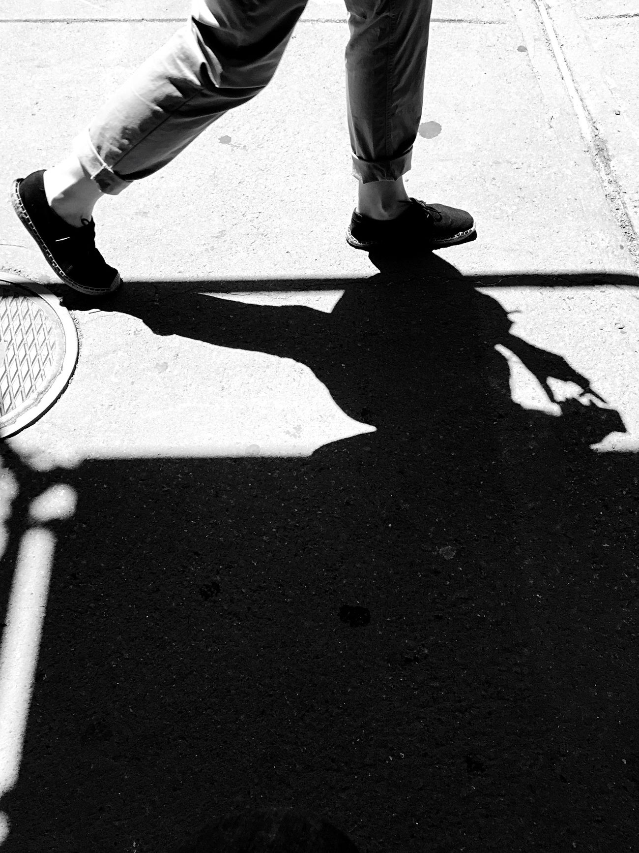 Walking Blackandwhite Life In Motion Shadow