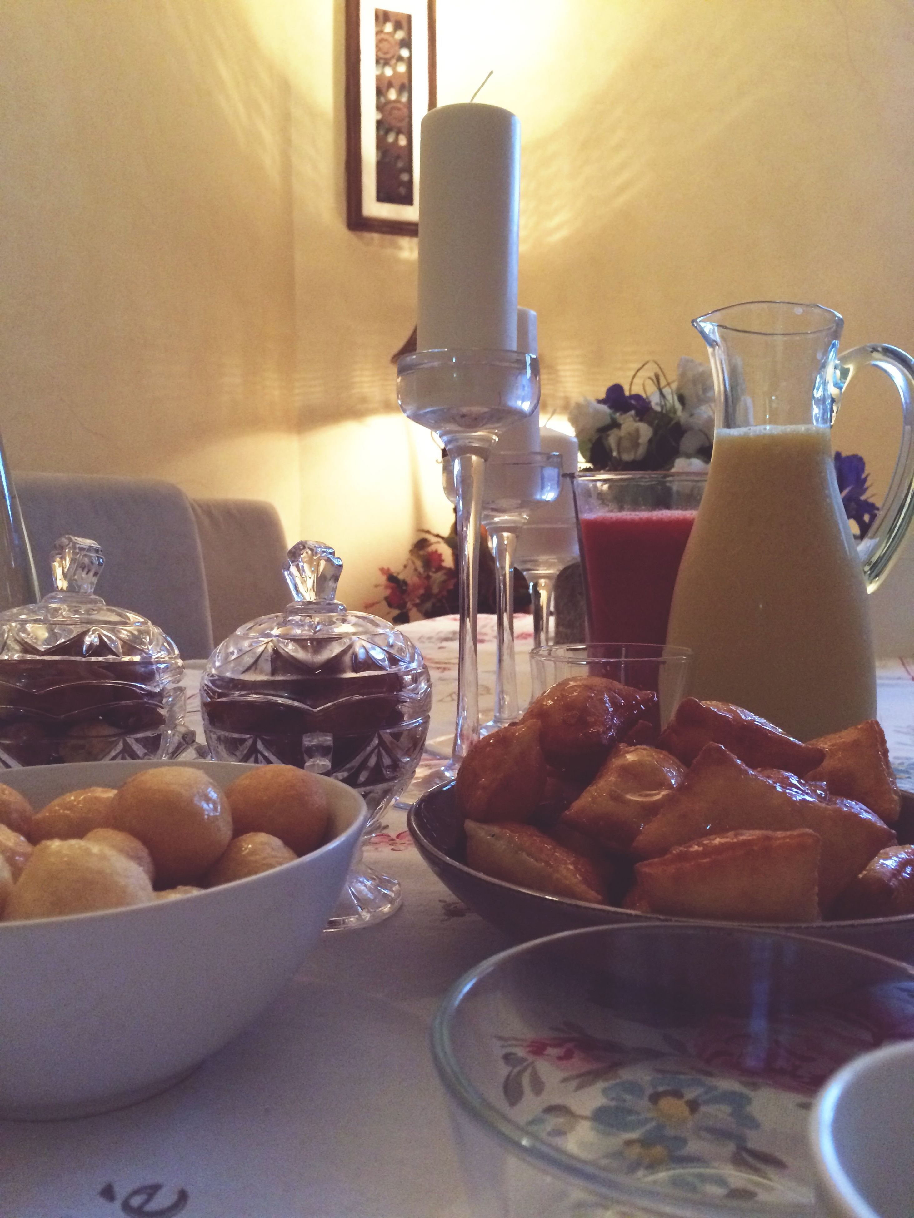 food and drink, indoors, table, food, plate, freshness, still life, sweet food, drink, ready-to-eat, dessert, indulgence, coffee cup, refreshment, breakfast, healthy eating, restaurant, home interior, bowl