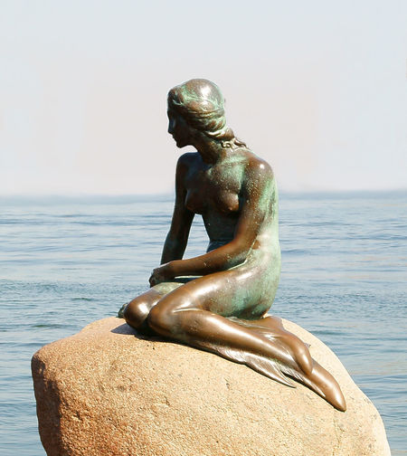 Art And Craft Beauty In Nature Clear Sky Close-up Copenaghen Mermaid Day Horizon Over Water Human Representation Male Likeness Mermaid Nature No People Outdoors Rossano Grimoldi Sculpture Sea Sky Spirituality Statue Water