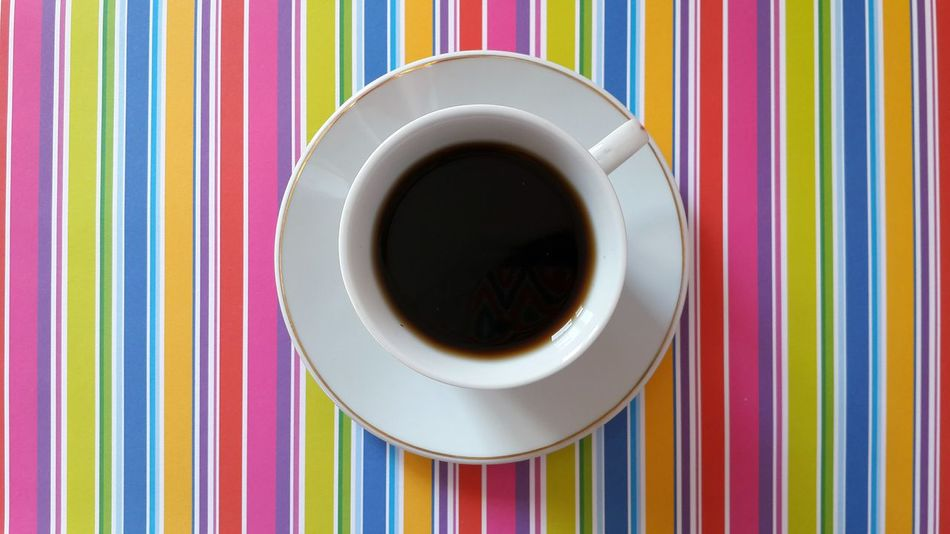 Coffee Still Life Coffee At Home Simplicity Directly Above Colors Colorful Lines Colorful Background Geometric Shapes Pattern Pieces Getting Inspired Pattern Design No People Tea Relaxing Food And Drink Hot Drink Things I Like From Above  Tea Time White Cup Abstract Eye4photography