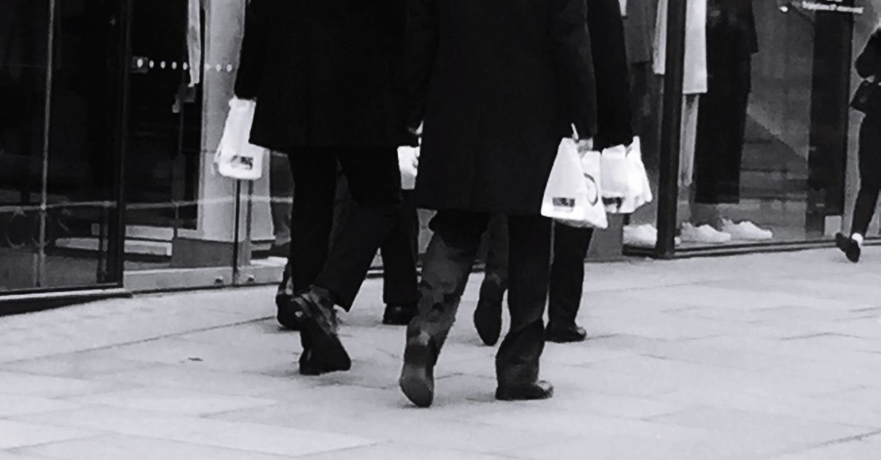 City Worker Real People Men Day Outdoors Low Section Smartly Dressed Lunch Break Work Shoes  Blackandwhite Photography