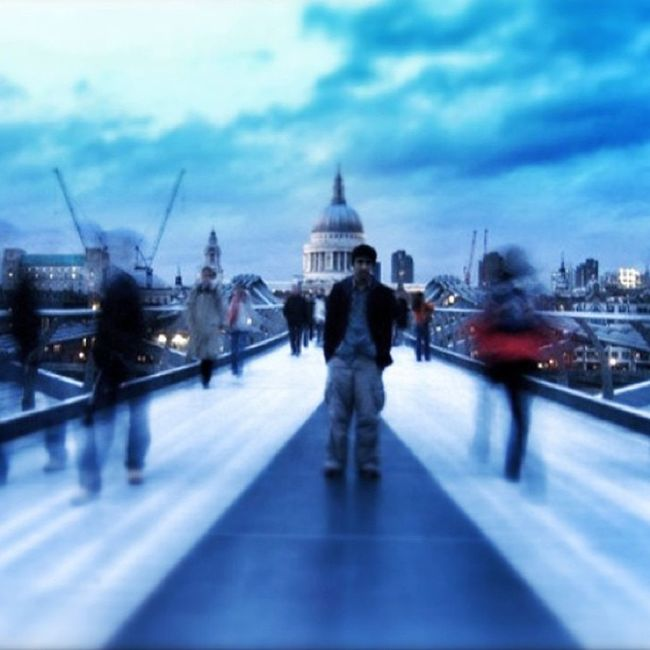 Stpauls Millennium Bridge MillenniumBridge london city citylife igadict igdaily instadaily standing still cloud clouds