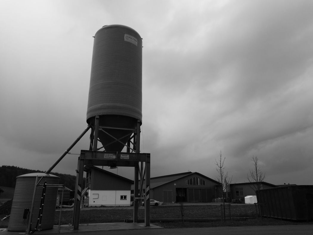Architecture Building Exterior Built Structure Cloud - Sky Day Industry Low Angle View No People Outdoors Sky Storage Tank