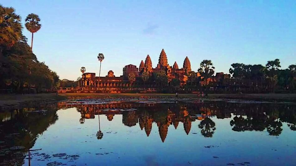 EyeEmNewHere Reflection Business Finance And Industry Built Structure Water Place Of Worship Sky Architecture Feel The Journey Religion Ancient Civilization Cambodia