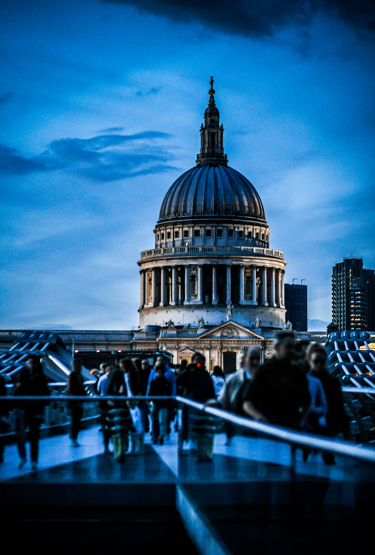 Architecture Blue Sky Bridge - Man Made Structure Cathedral City City Life Day Dome Famous Places Landmarks London London Lifestyle LONDON❤ Night Outdoors People Religion Sky St Paul's Cathedral Tourist Travel Destinations Uk Urban Skyline
