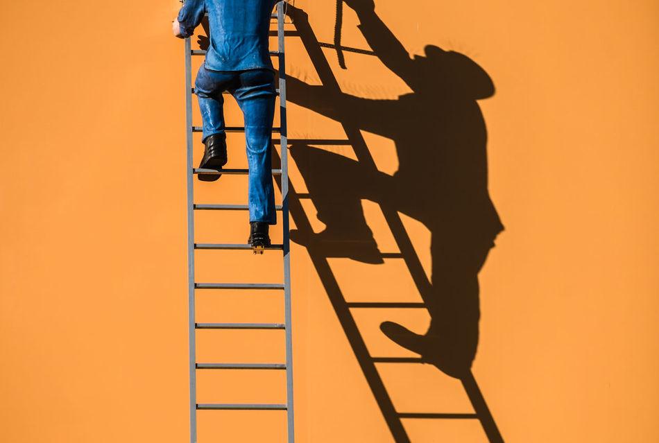 Ladderman Berlin Berlin Photography Cityexplorer Climbing Day Ladder Light And Shadow Low Section Outdoors Shadow Shadowplay Silhouette Sunlight Urbanphotography