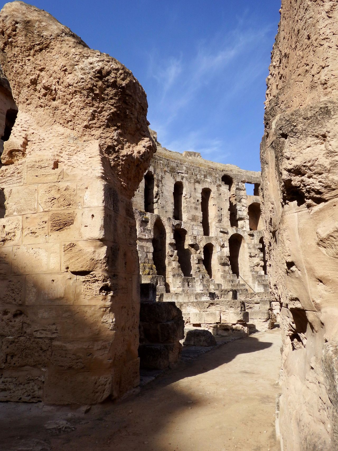 Ruin Amphitheatre Traveling El Djem Tunesia Ancient Ancient Architecture Ancient Ruins Historic Historical Building No People Summer Sunshine Day
