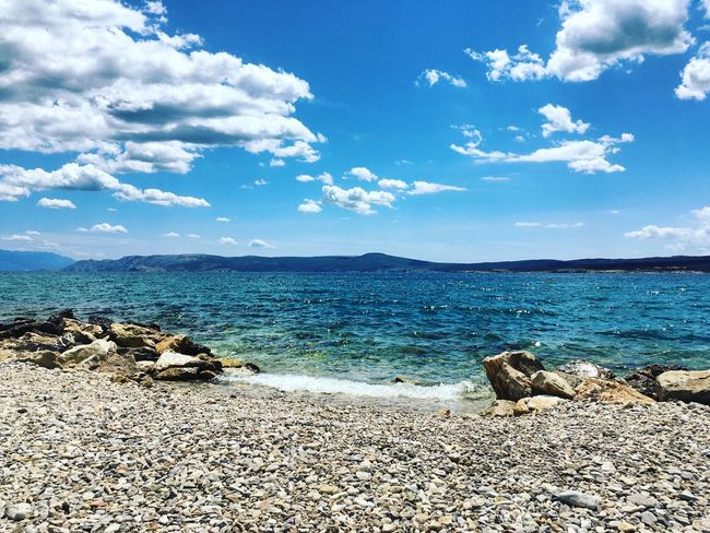Blue Sky Crikvenica Croatia Sea Sea And Sky