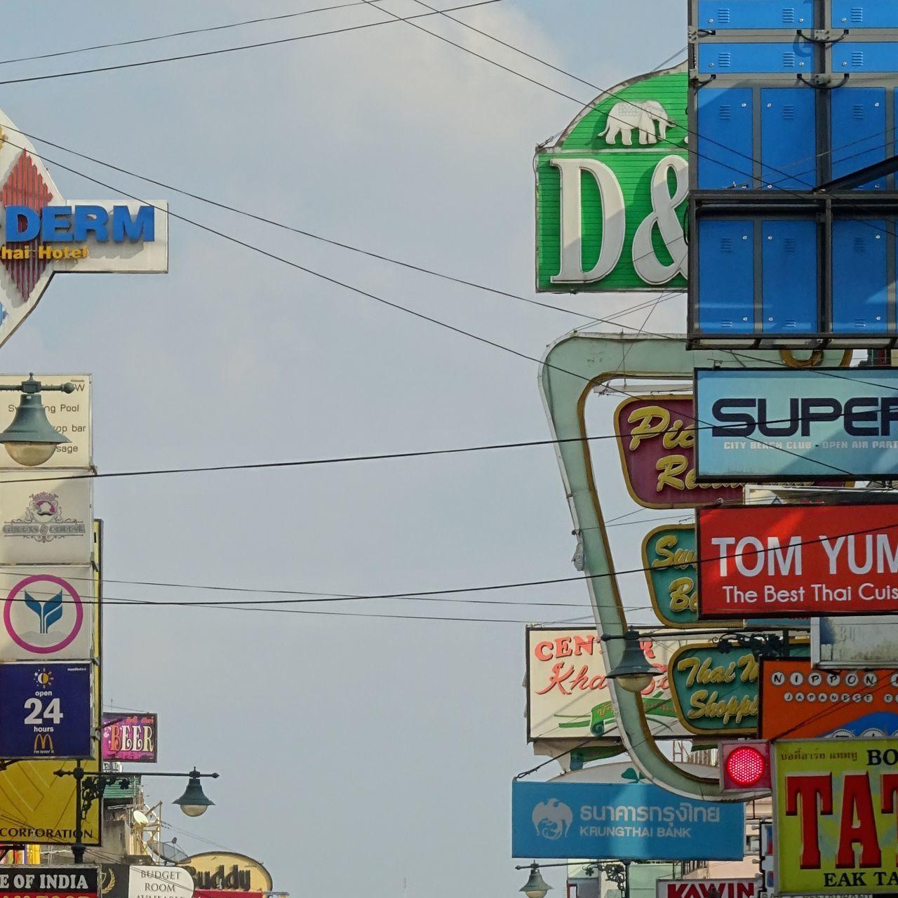 Ads Advertisement Bangkok Thailand. Big City City Life Crowded Scoreboard