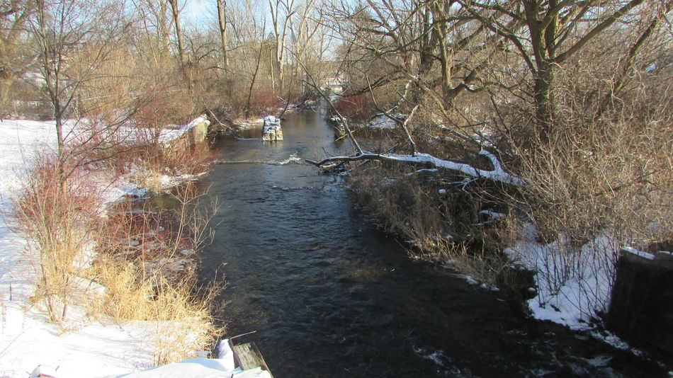 Taking Pictures Rushing Water Winter_collection Clam River Flow Beauty In Nature Cadillac Michigan