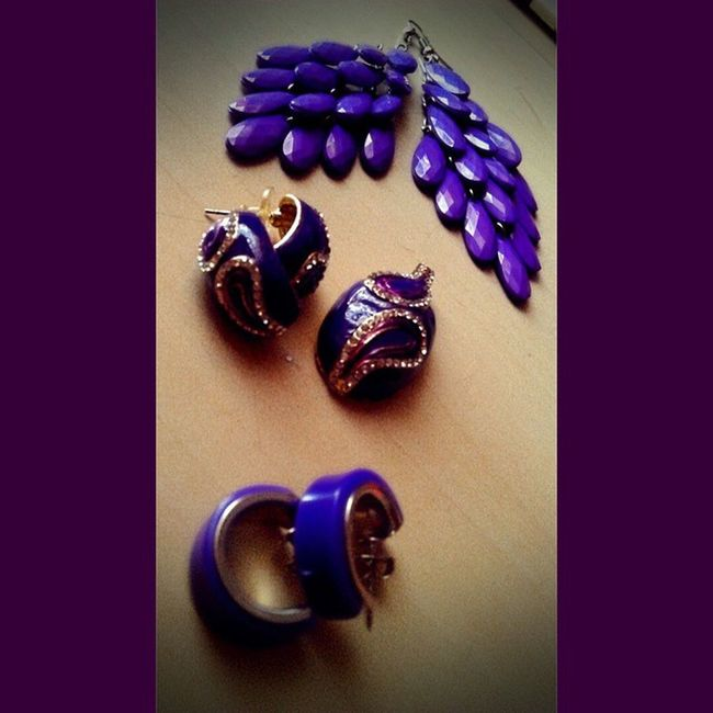 For those who say purple is my favourite,,, so this is wat got. For purple.. Purplicious Earrings Pendants