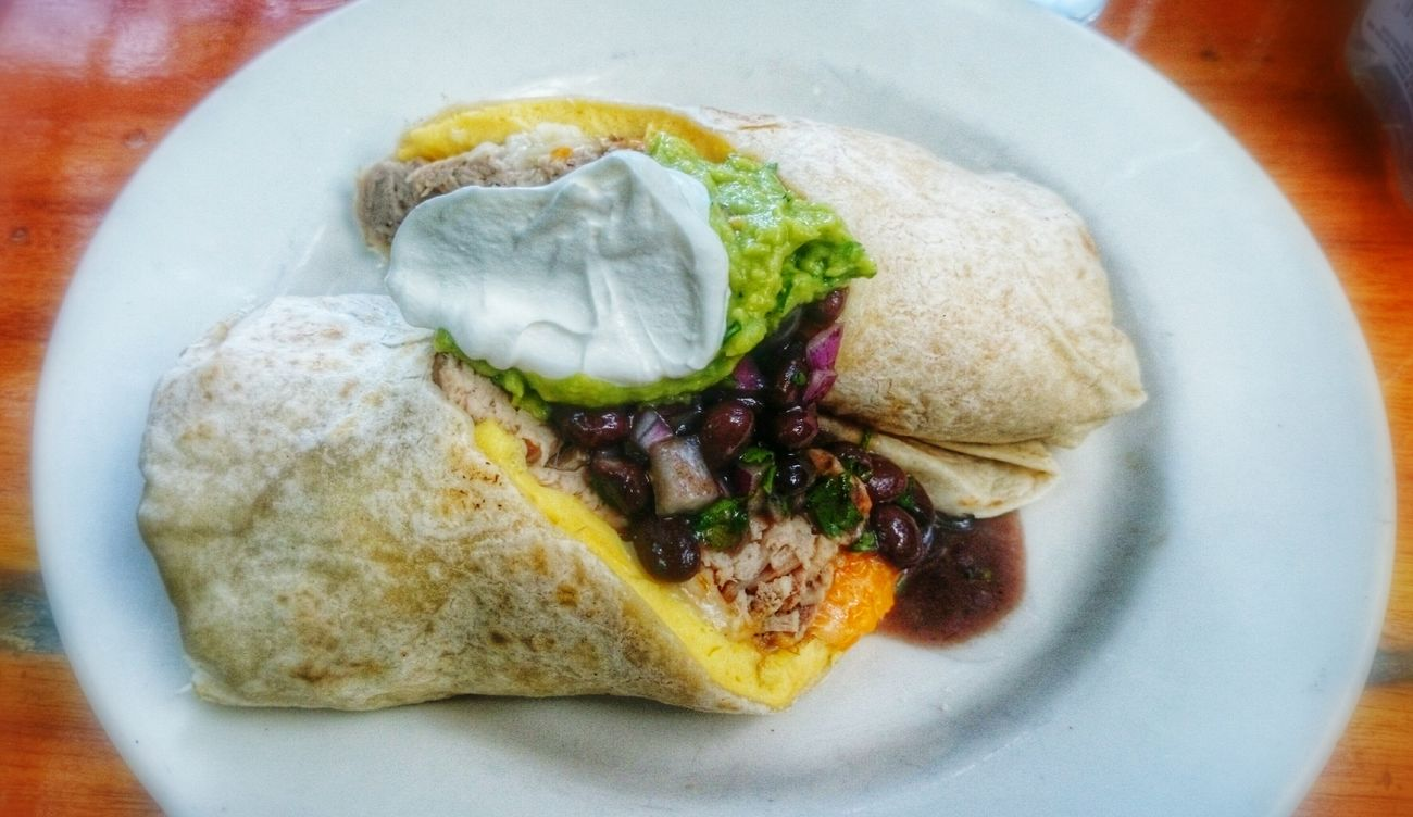 Breakfast burrito....yumm Breakfast Key West Food USA Florida