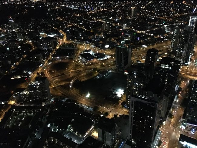 Melbourne City Night Lights Night View