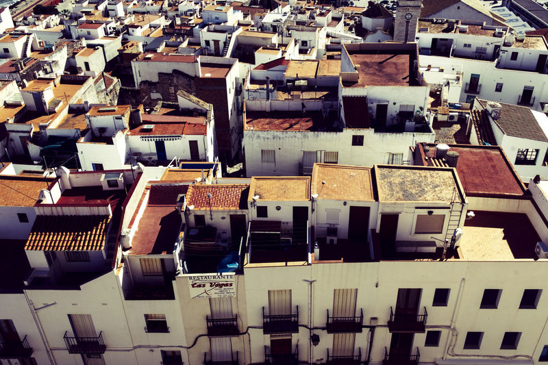 City Mediterranian Houses Old Town Square Rooda Roofs València Village