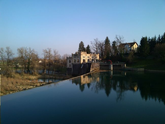 Architecture Beauty In Nature Built Structure Clear Sky Day Hidroelectrica Historical Building Kupa Nature No People Outdoors Poweplant Reflection River Scenics Sky Standing Water Tranquility Water Live For The Story The Architect - 2017 EyeEm Awards Place Of Heart Sommergefühle EyeEm Selects