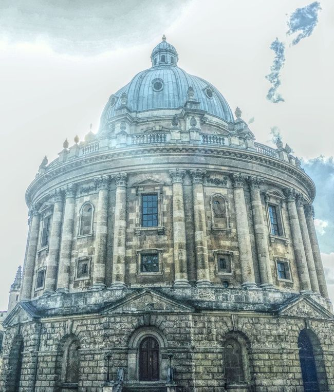 Architecture Built Structure Building Exterior Low Angle View Dome History Religion Façade Travel Destinations Arch Church City Spirituality Sky Famous Place Place Of Worship Outdoors Pediment Culture Tourism Mix Filter Radcliffe Camera