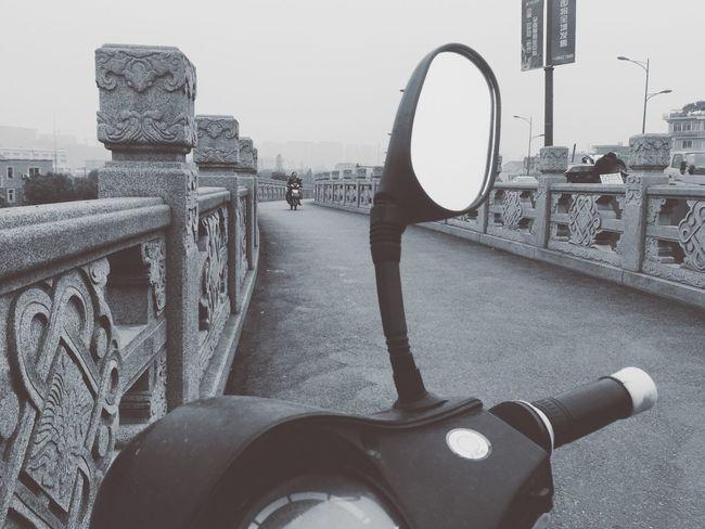 Bridge Review Mirror Monochrome Streetphotography Street On The Road