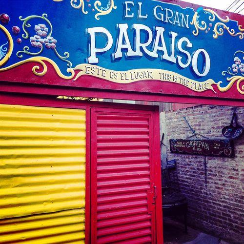 Caminito Turistic Places Azul Y Oro Xeneize Color Building Colores Y Texturas Contrasting Colors Outdoors Arquitecture Color Wall La Boca, Buenos Aires