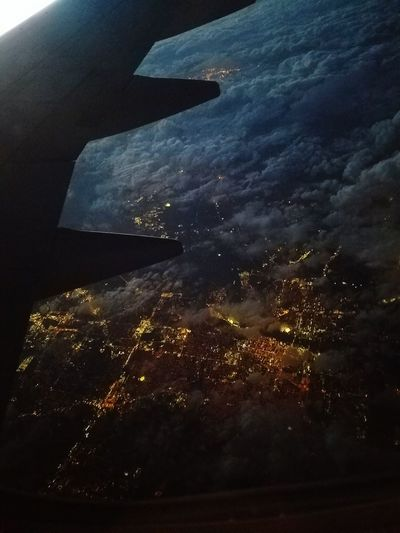 Cities At Night Hello World Enjoying Life Plane Clouds Photography Night High Up In The Air Airplane Scared Hight Amazming Amazing View