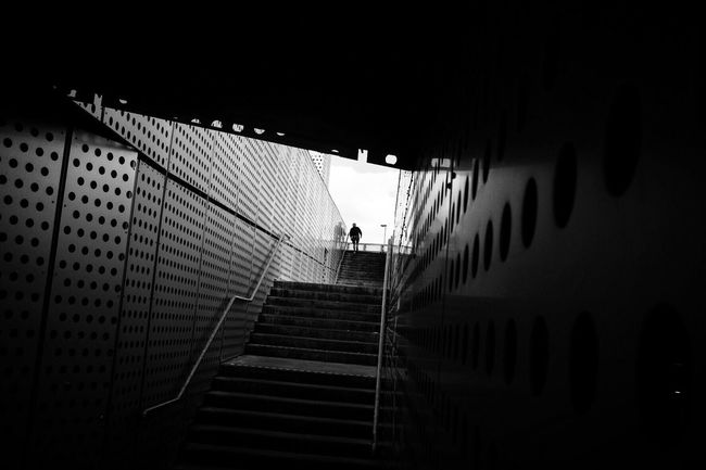 Low Angle View Steps Architecture Stairs Street Photography Silhouette Streetphoto_bw