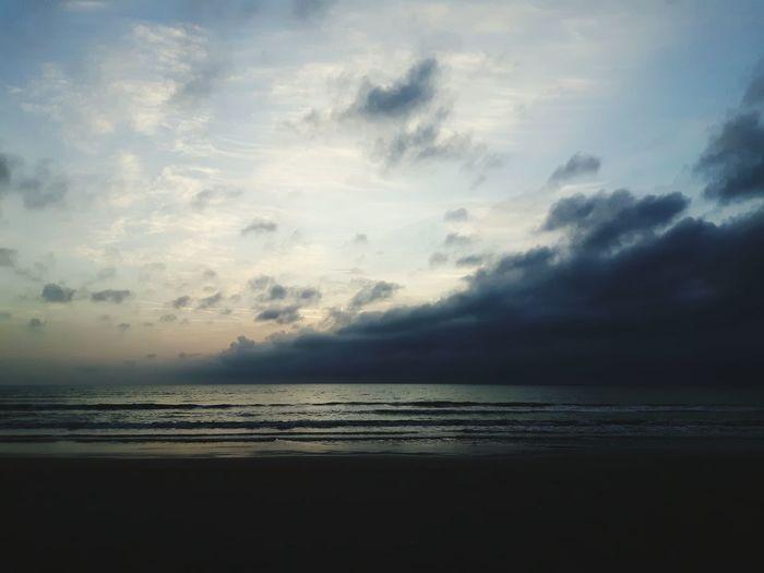 Sea Water Dramatic Sky Landscape Cloud - Sky Nature Sunset Beach Seascape Horizon Over Water Scenics Atmospheric Mood Tranquil Scene Beauty In Nature Cloudscape Majestic Awe Vacations Tranquility Sun Durrës, Albania