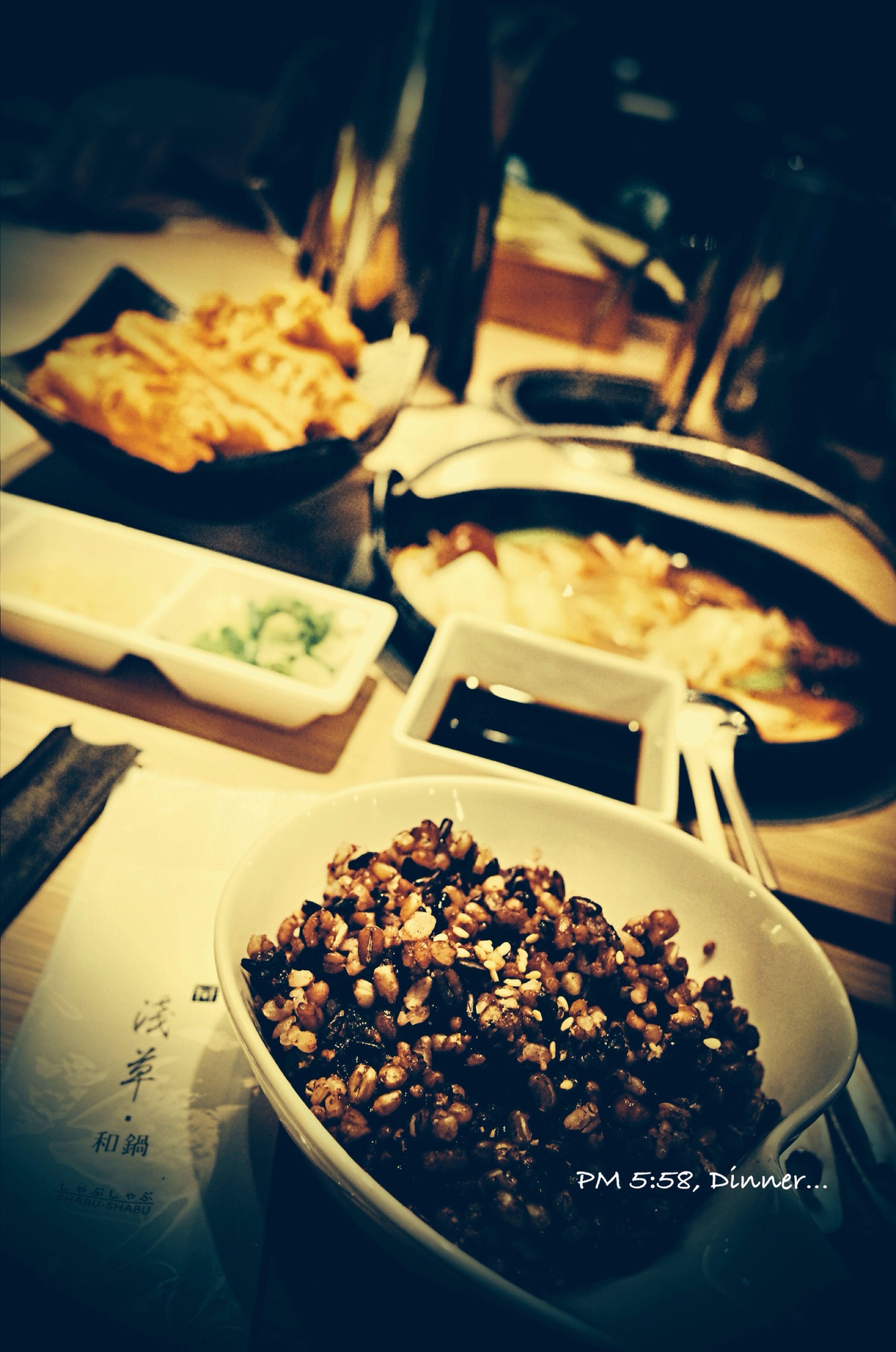 PM 5:58 桃園。淺草和鍋, 和家人晚餐中... Taoyuan City Family Dinner Yummy