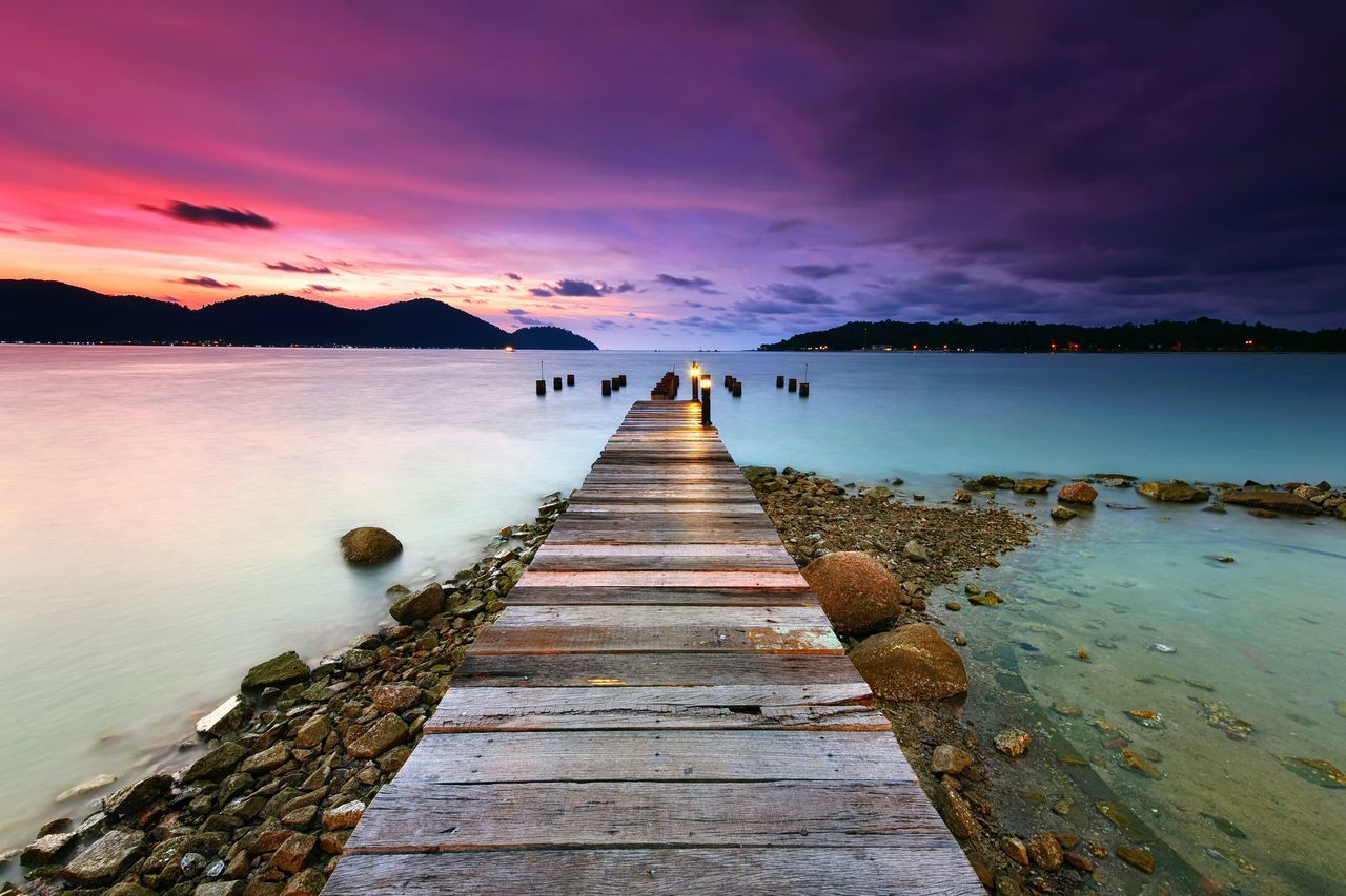 Marina Island Jetty, Lumut Perak The Great Outdoors - 2017 EyeEm Awards Sunset Sunrise Sky Water Sea Beach Seascape Jetty Pier Nature Travel Destinations Beauty In Nature Long Exposure No People EyeEm Masterclass Landscape Background EyeEmBestPics EyeEmbestshots EyeEm Nature Lover Getty Images Eyeemphotography Island